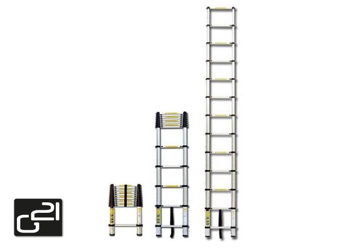 Teleskopický žebřík G21 GA-TZ13-3,8M hliníkový + DÁREK ZDARMA dle vlastního výběru ! + doprava zdarma