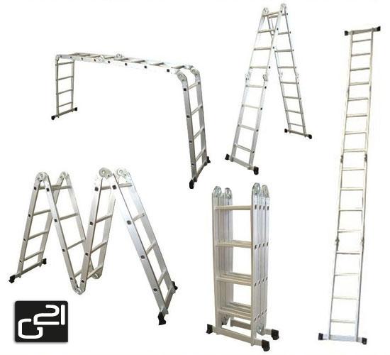 Hliníkové štafle G21 GA-SZ-4x4-4,6M multifunkční + DÁREK ZDARMA dle vlastního výběru ! + doprava zdarma