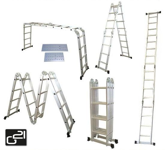 Hliníkové štafle G21 GA-SZ-4x4-4,6M multifunkční + podlážka + DÁREK ZDARMA dle vlastního výběru ! + doprava zdarma