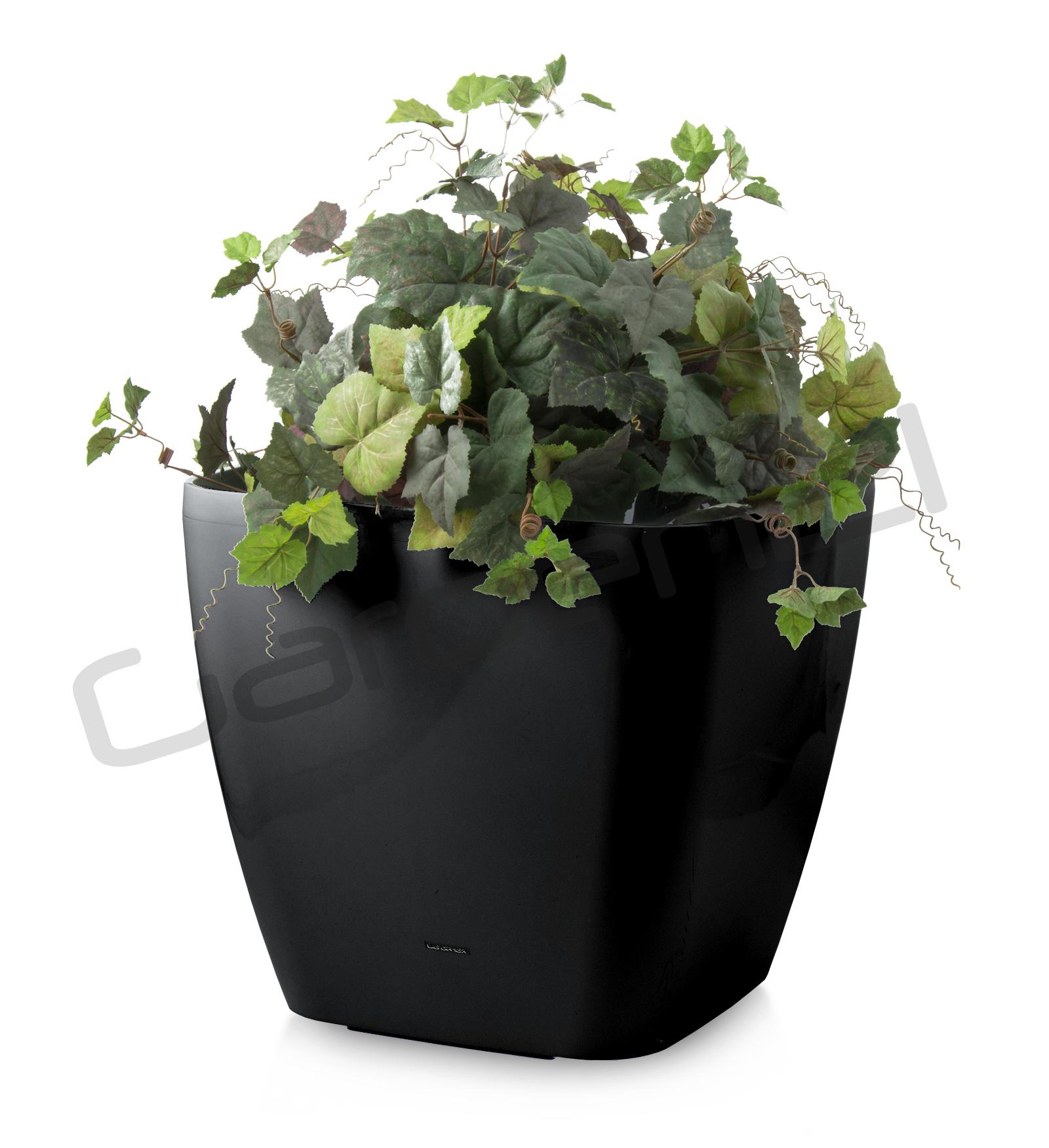 Samozavlažovací květináč G21 Cube maxi černý 45cm + doprava zdarma