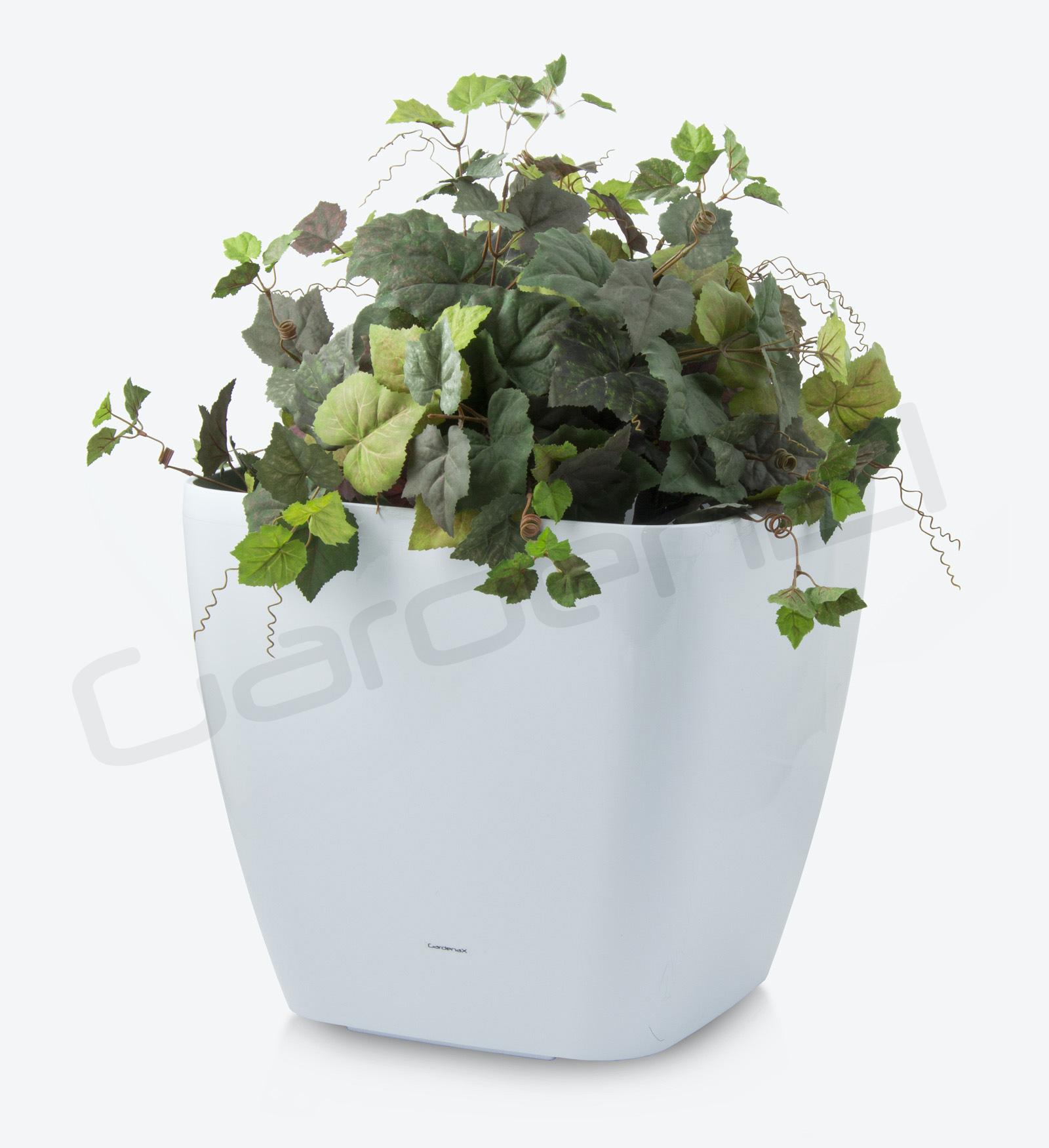 Samozavlažovací květináč G21 Cube maxi bílý 45cm + doprava zdarma