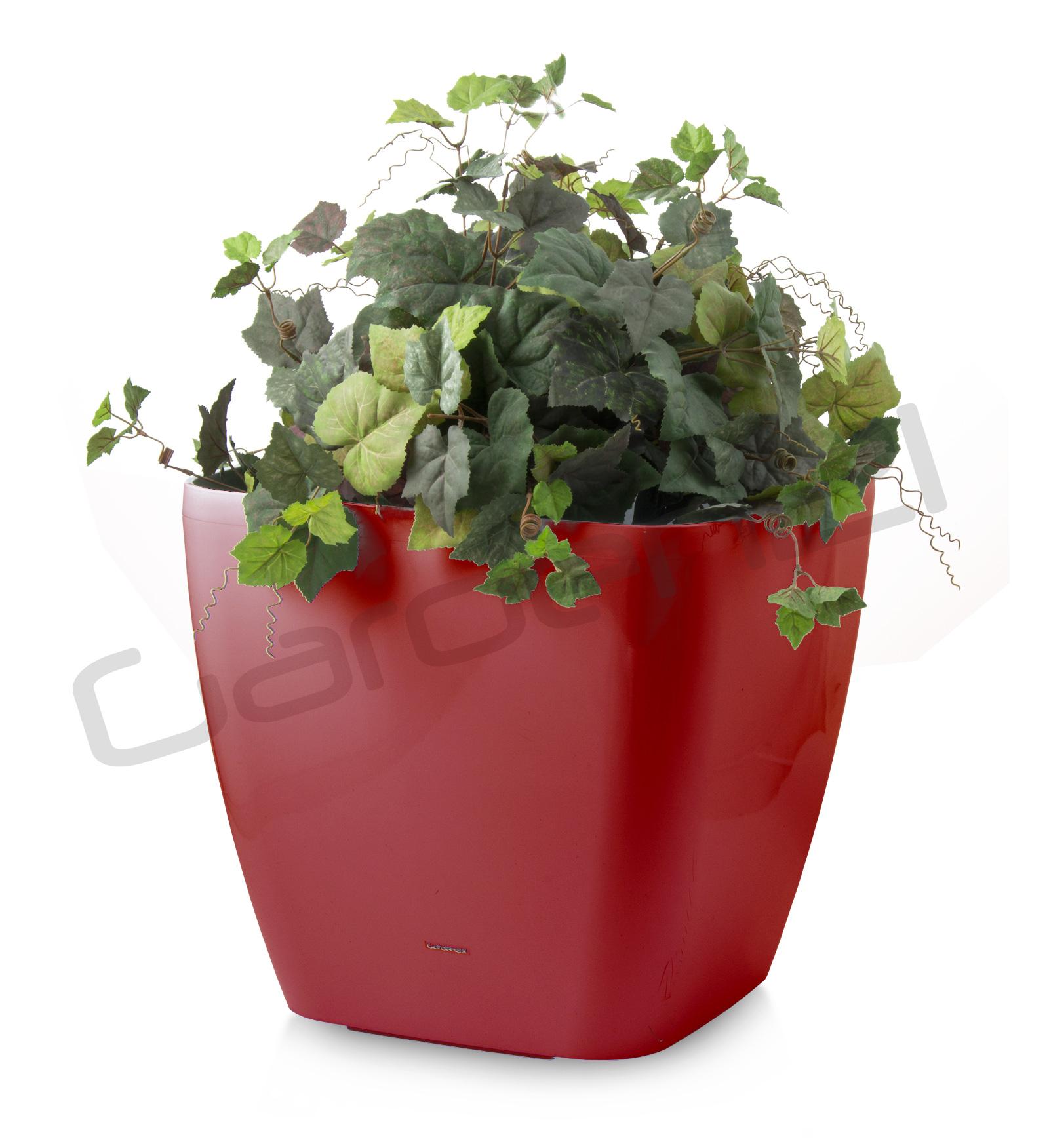 Samozavlažovací květináč G21 Cube maxi červený 45cm + doprava zdarma
