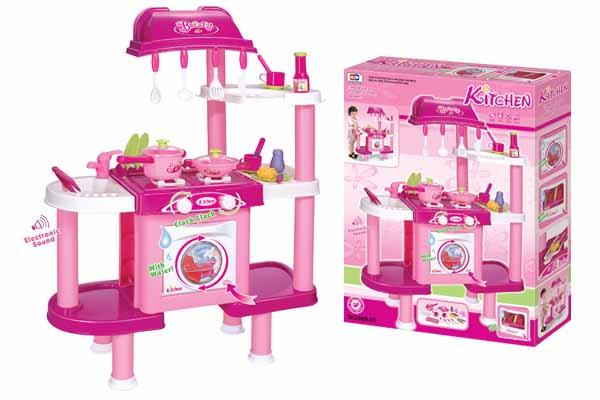 Dětská kuchyňka G21 s příslušenstvím růžová II. + doprava zdarma