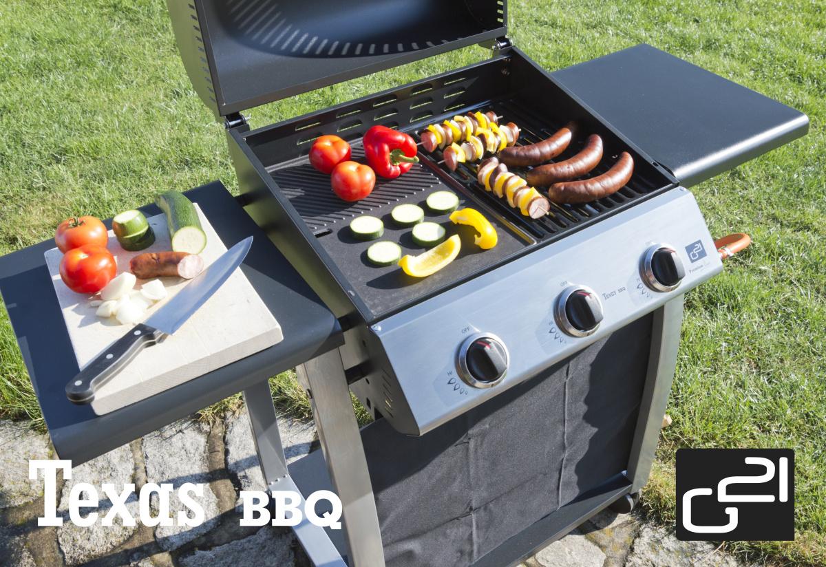 Plynový gril G21 Texas BBQ 3 hořáky + doprava zdarma