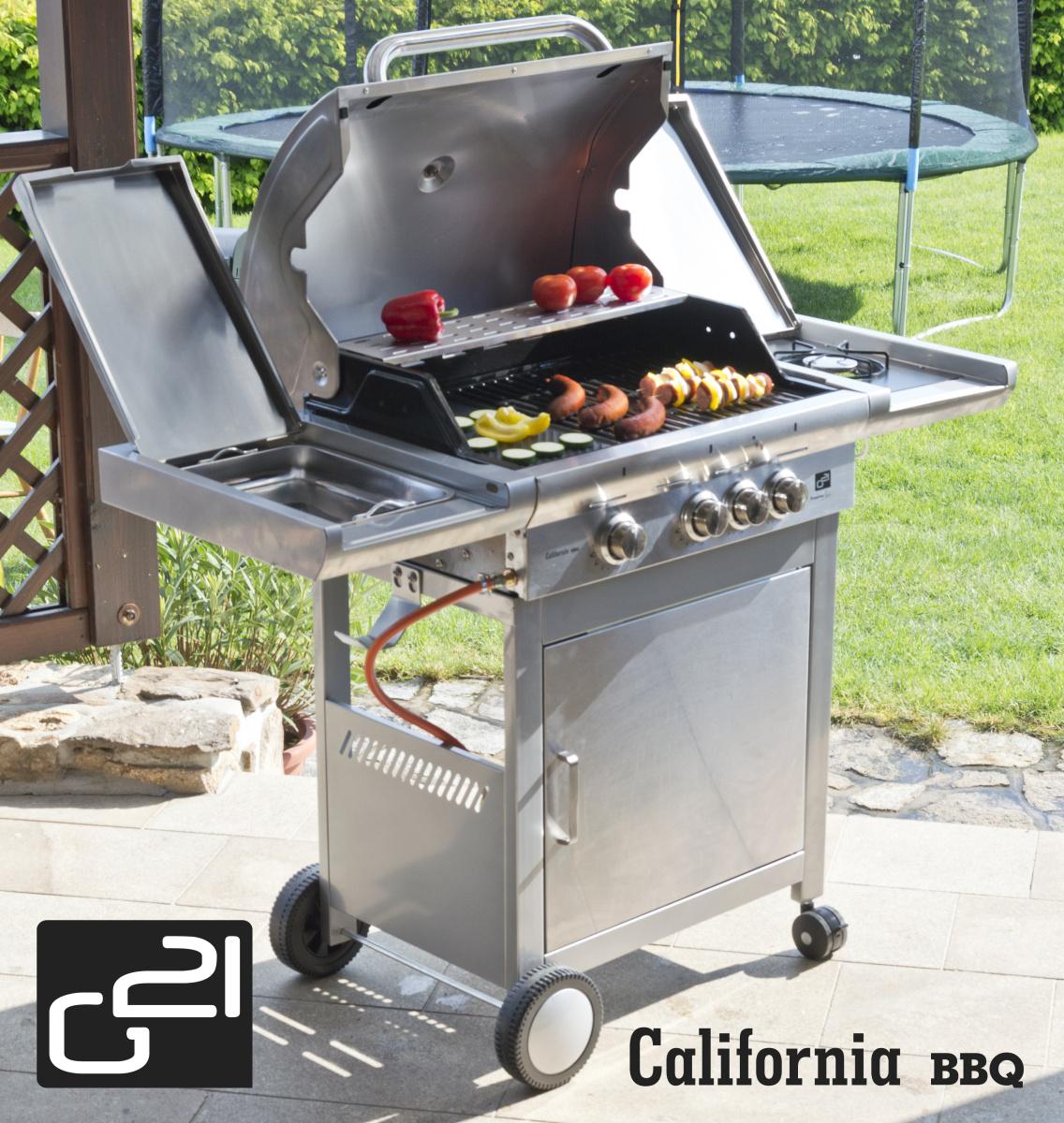 Plynový gril G21 California BBQ Premium line, 4 hořáky + doprava zdarma
