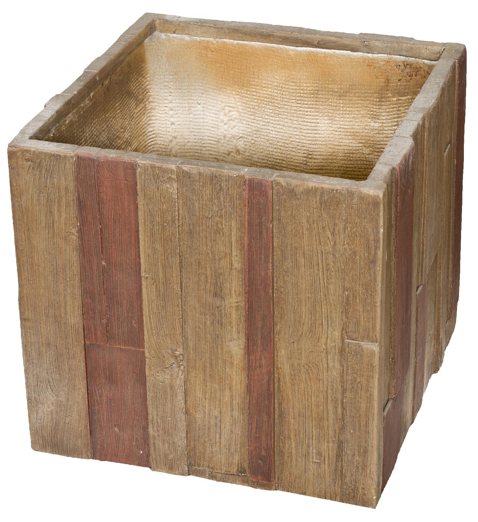 Květináč G21 Wood Cube 55x55x52cm + doprava zdarma