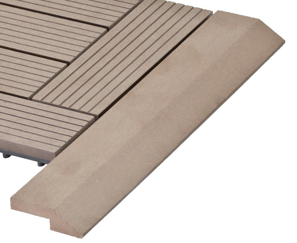 Přechodová lišta G21 pro WPC dlaždice indický teak 38,5x7,5 cm rohová