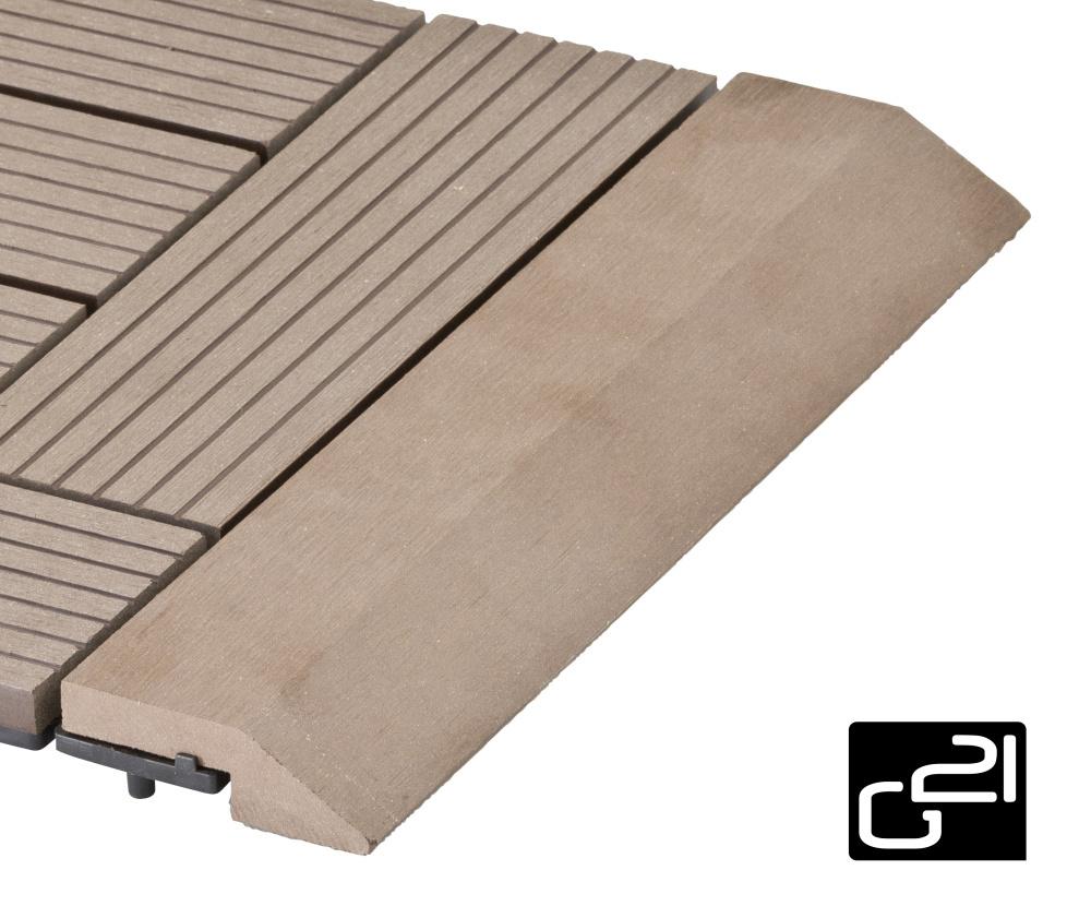 Přechodová lišta G21 pro WPC dlaždice indický teak 30x7,5 cm rovná
