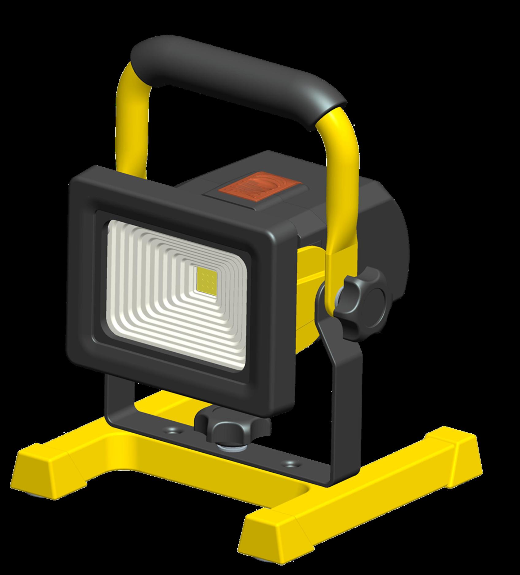 Reflektor G21 LED přenosný bateriový 10W, 700lm, teplá bílá, krytí IP65 + doprava zdarma