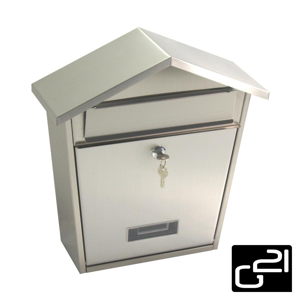 Schránka poštovní G21 LORI 355x375x135 nerez + doprava zdarma