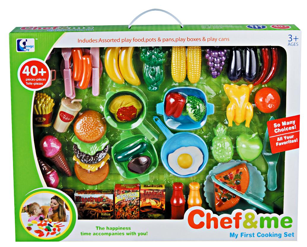 Hračka G21 Dětské plastové jídlo s nádobím 46ks