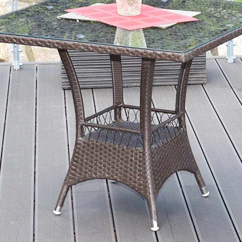 Ratanový stůl G21 Imperial hranatý brazilský dub + doprava zdarma