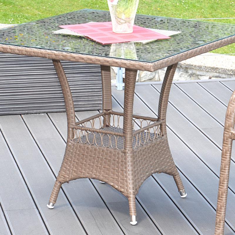 Ratanový stůl G21 Imperial hranatý merbau + doprava zdarma