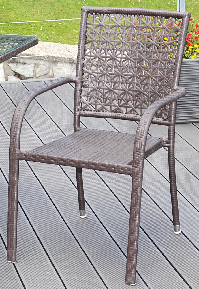 Ratanová židle G21 Imperial hranatý brazilský dub