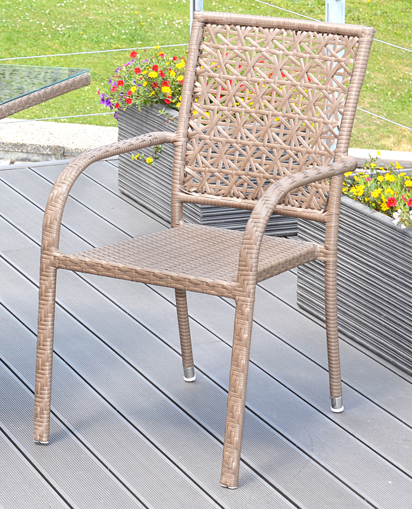 Ratanová židle G21 Imperial hranatý merbau + doprava zdarma