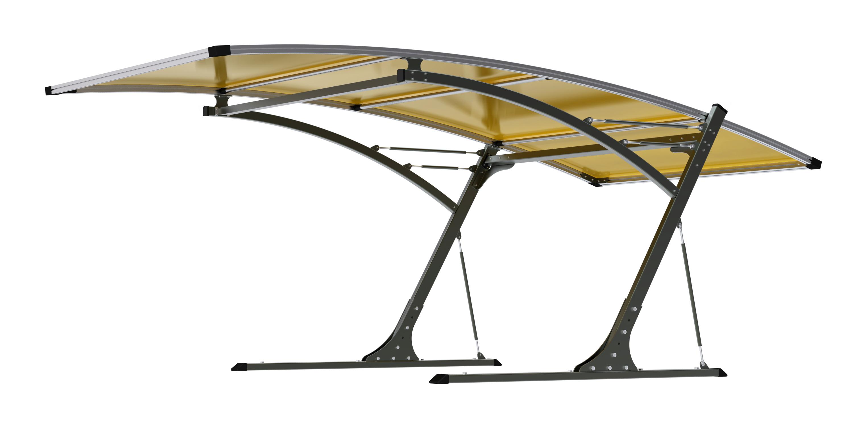 Přístřešek pro automobil G21 Carport black/yellow