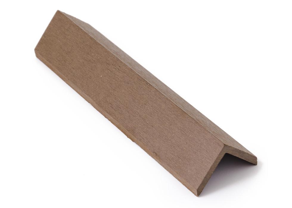 Zakončovácí lišta G21 4,5*4,5*300cm, Indický teak mat. WPC - 2. jakost + doprava zdarma