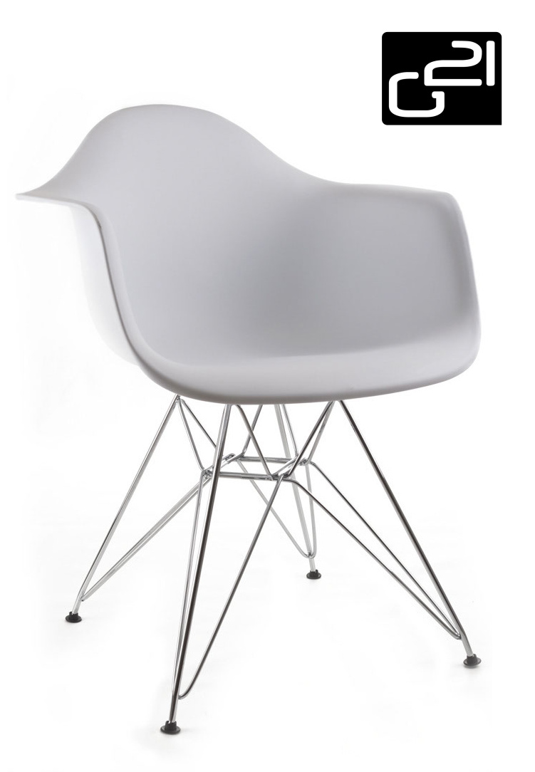 Designová židle G21 Decore White + doprava zdarma