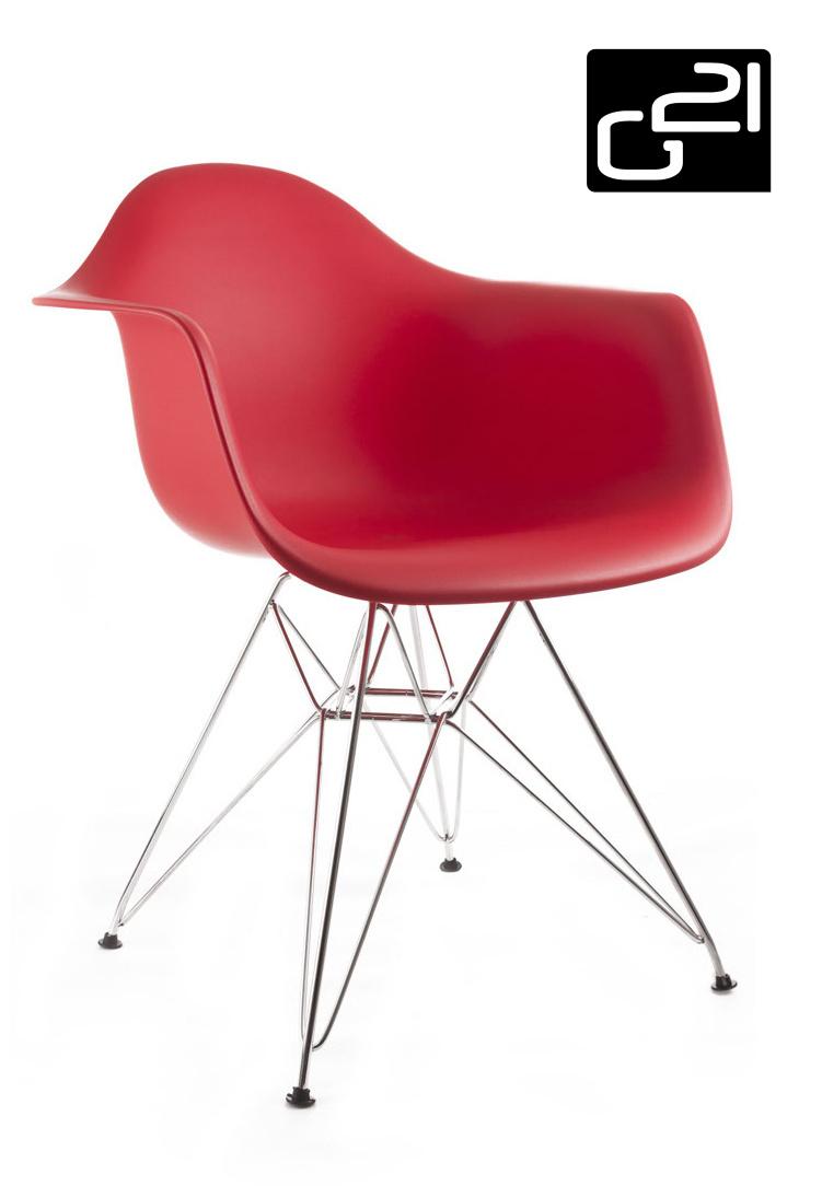 Designová židle G21 Decore Red + doprava zdarma