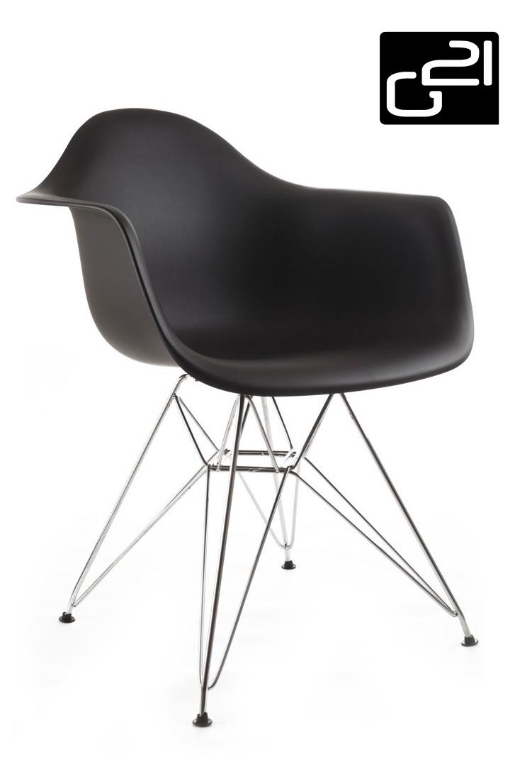 Designová židle G21 Decore Black + doprava zdarma