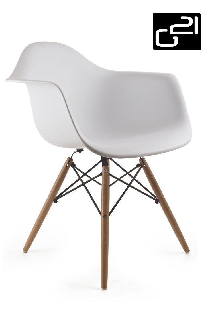 Designová židle G21 Lumber White + doprava zdarma