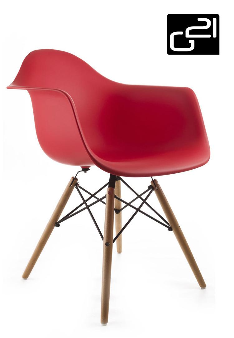 Designová židle G21 Lumber Red + doprava zdarma