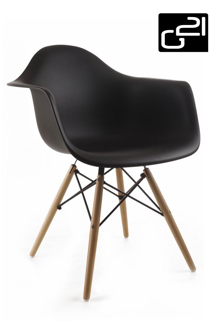Designová židle G21 Lumber Black + doprava zdarma