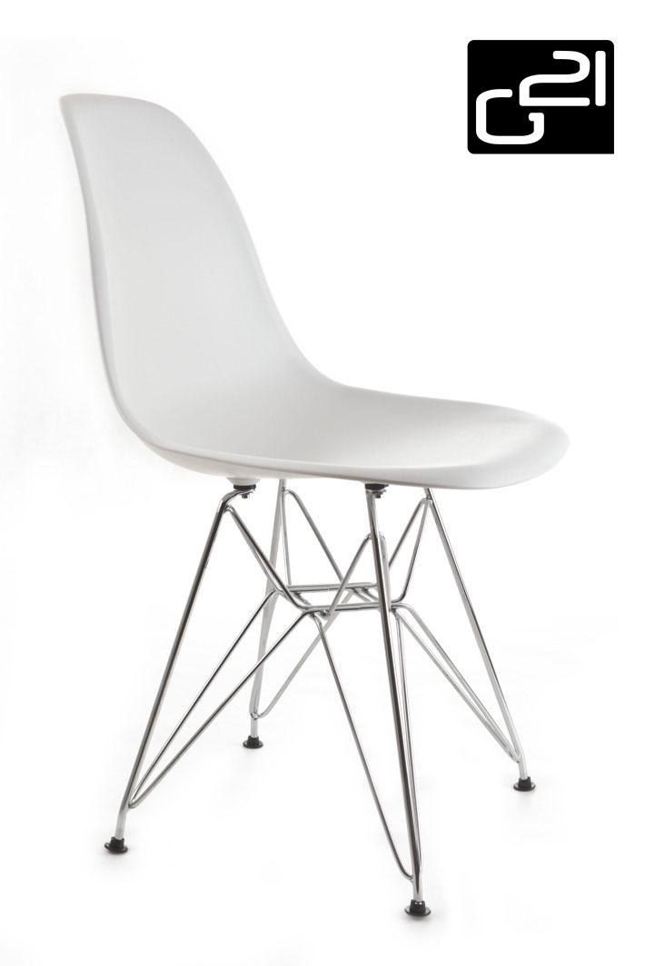 Designová židle G21 Teaser White + doprava zdarma