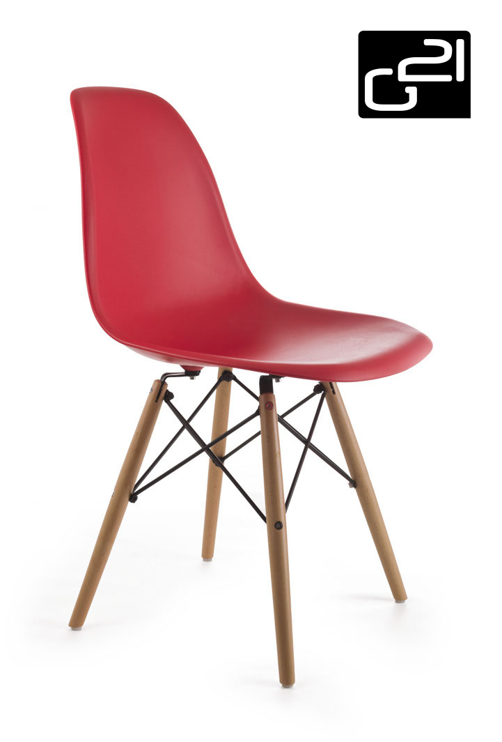 Designová židle G21 Timber Red + doprava zdarma