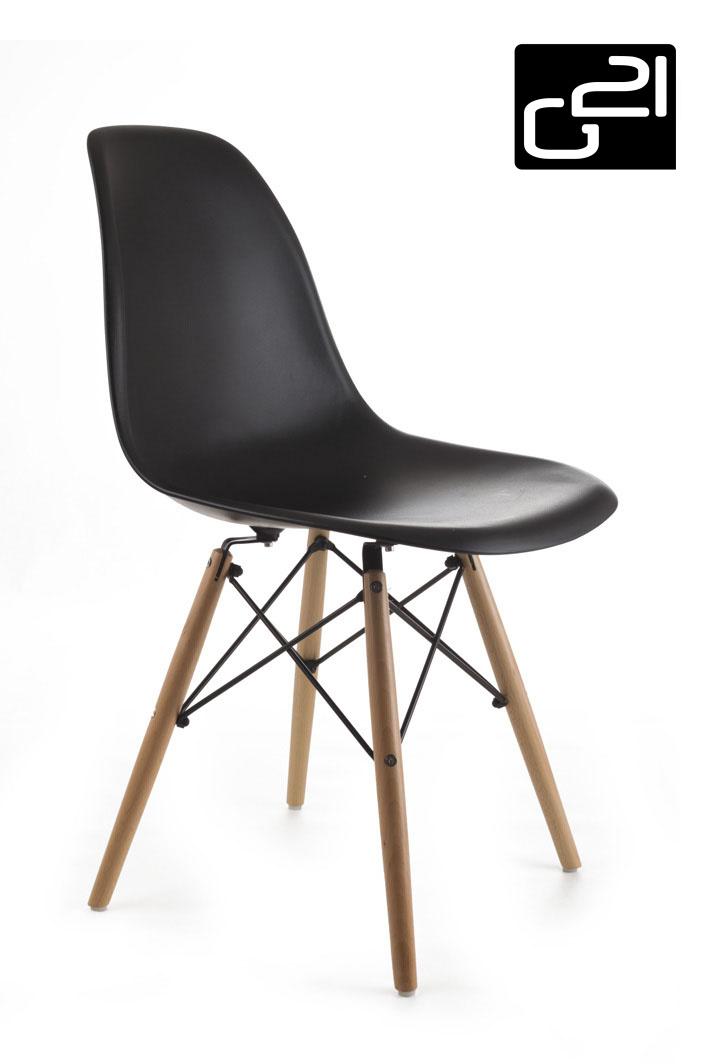 Designová židle G21 Timber Black + doprava zdarma