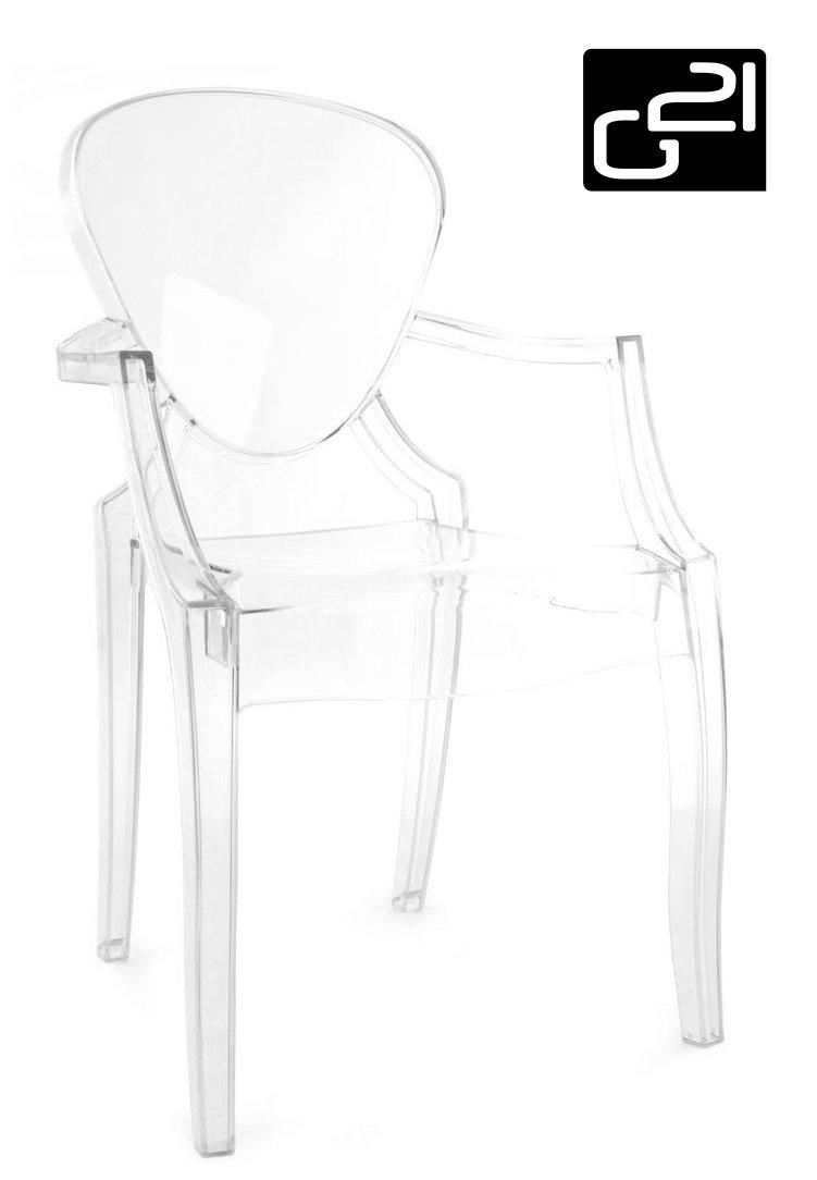 Designová židle G21 Pure Crystal transparent + doprava zdarma