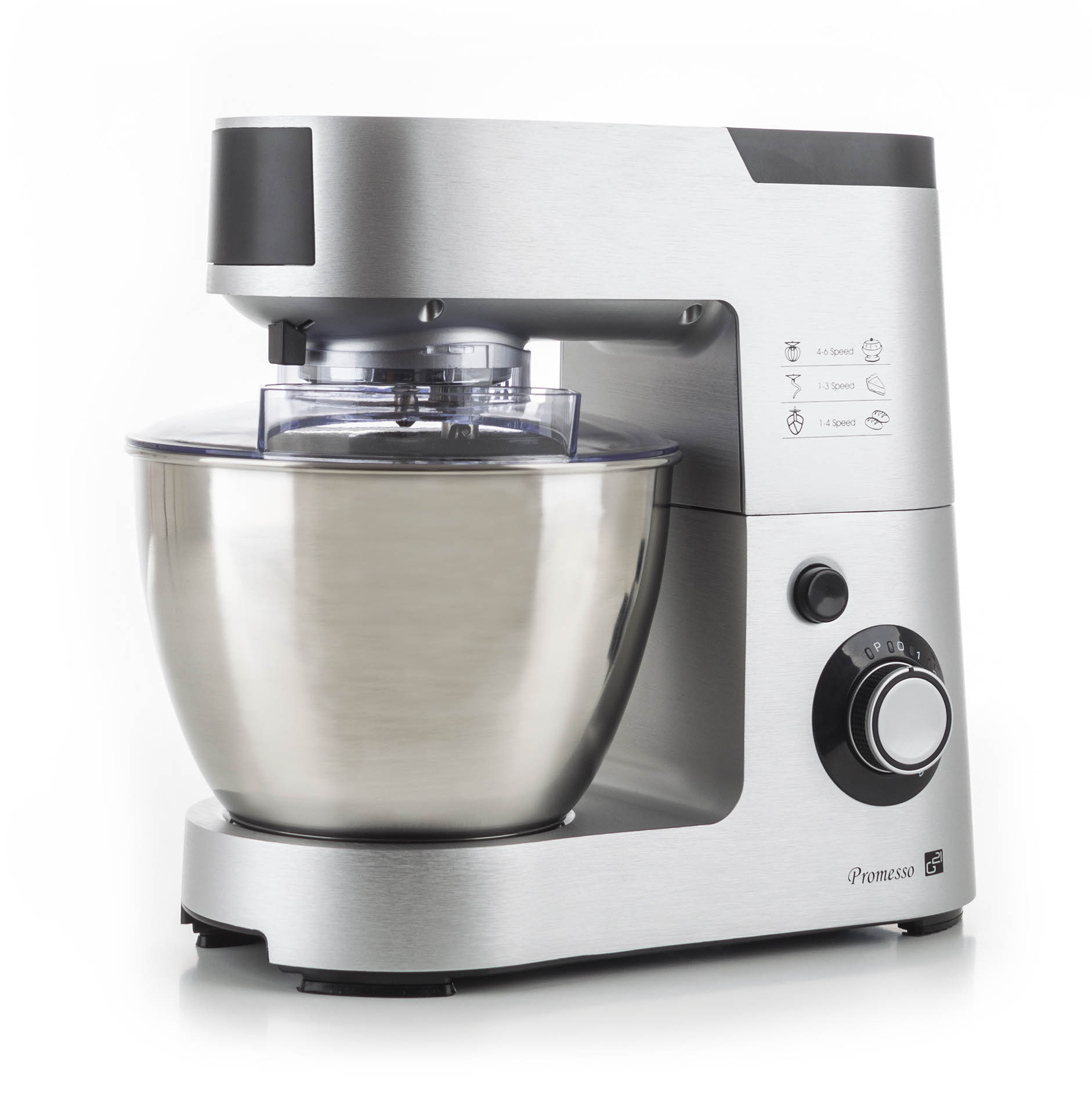 Kuchyňský robot G21 Promesso Aluminium + doprava zdarma