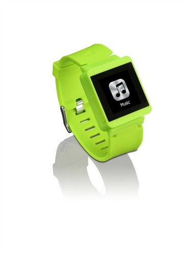 LENCO MP3 Sportwatch 100 zelený + doprava zdarma