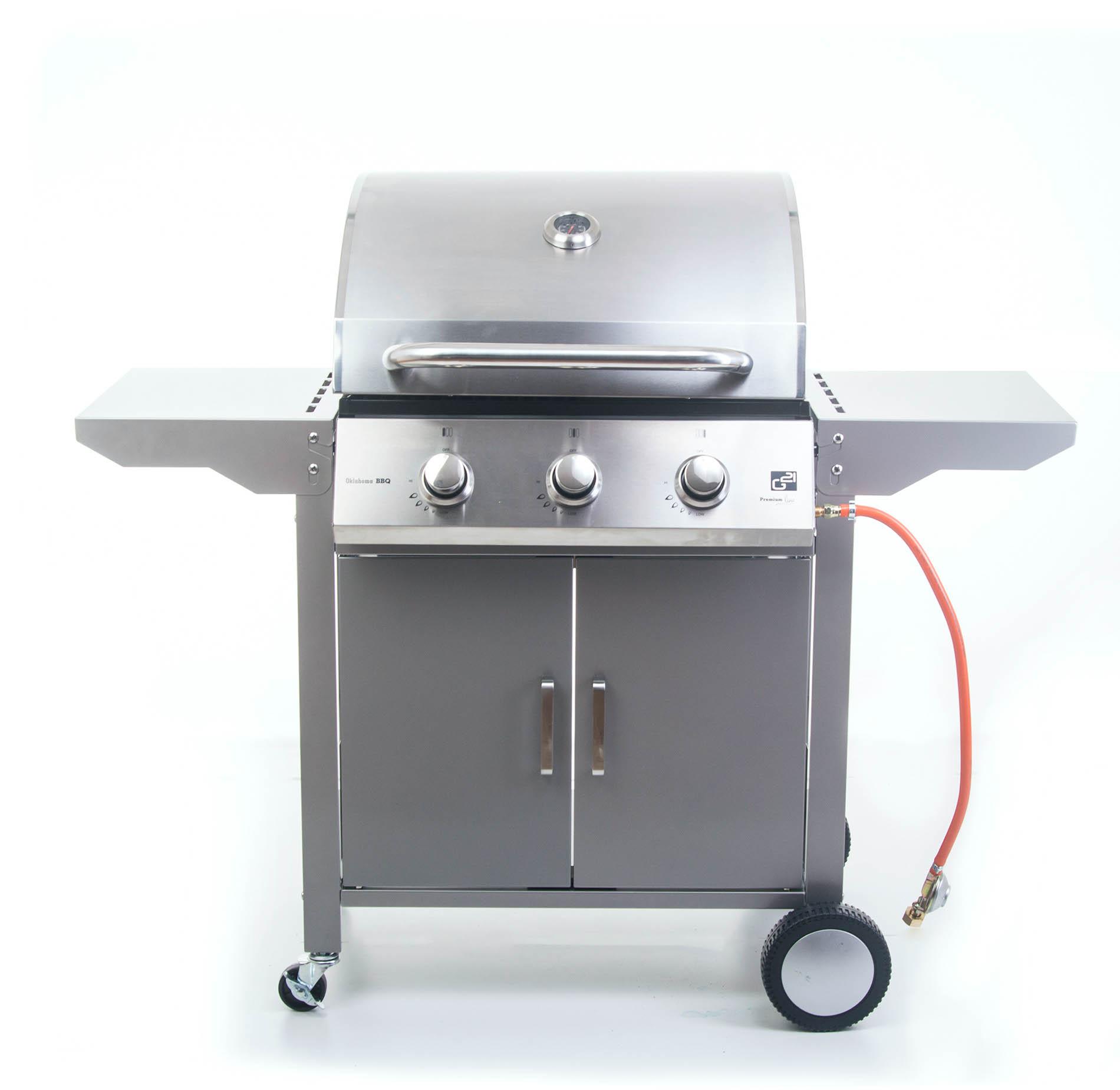 Plynový gril G21 Oklahoma, BBQ Premium Line 3 hořáky + doprava zdarma