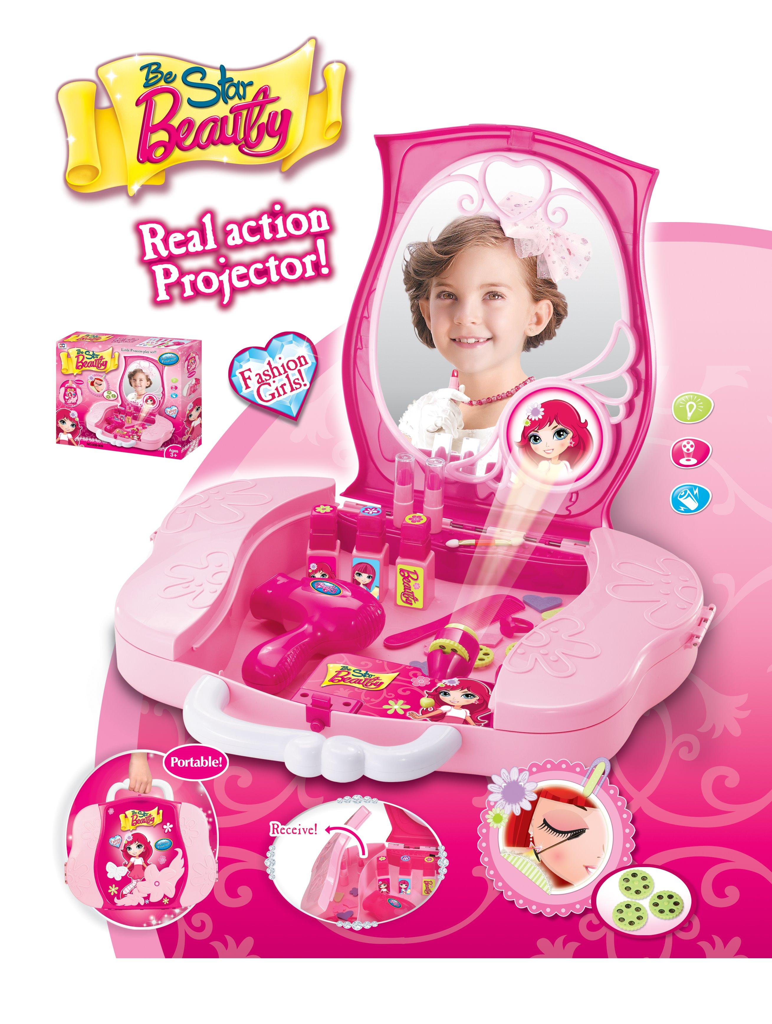 Hrací set G21 Dětský kosmetický kufřík s příslušenstvím s projekcí + doprava zdarma