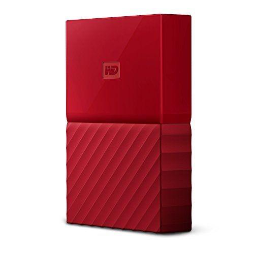 WD My Passport 2TB, červený; WDBYFT0020BRD-WESN + doprava zdarma
