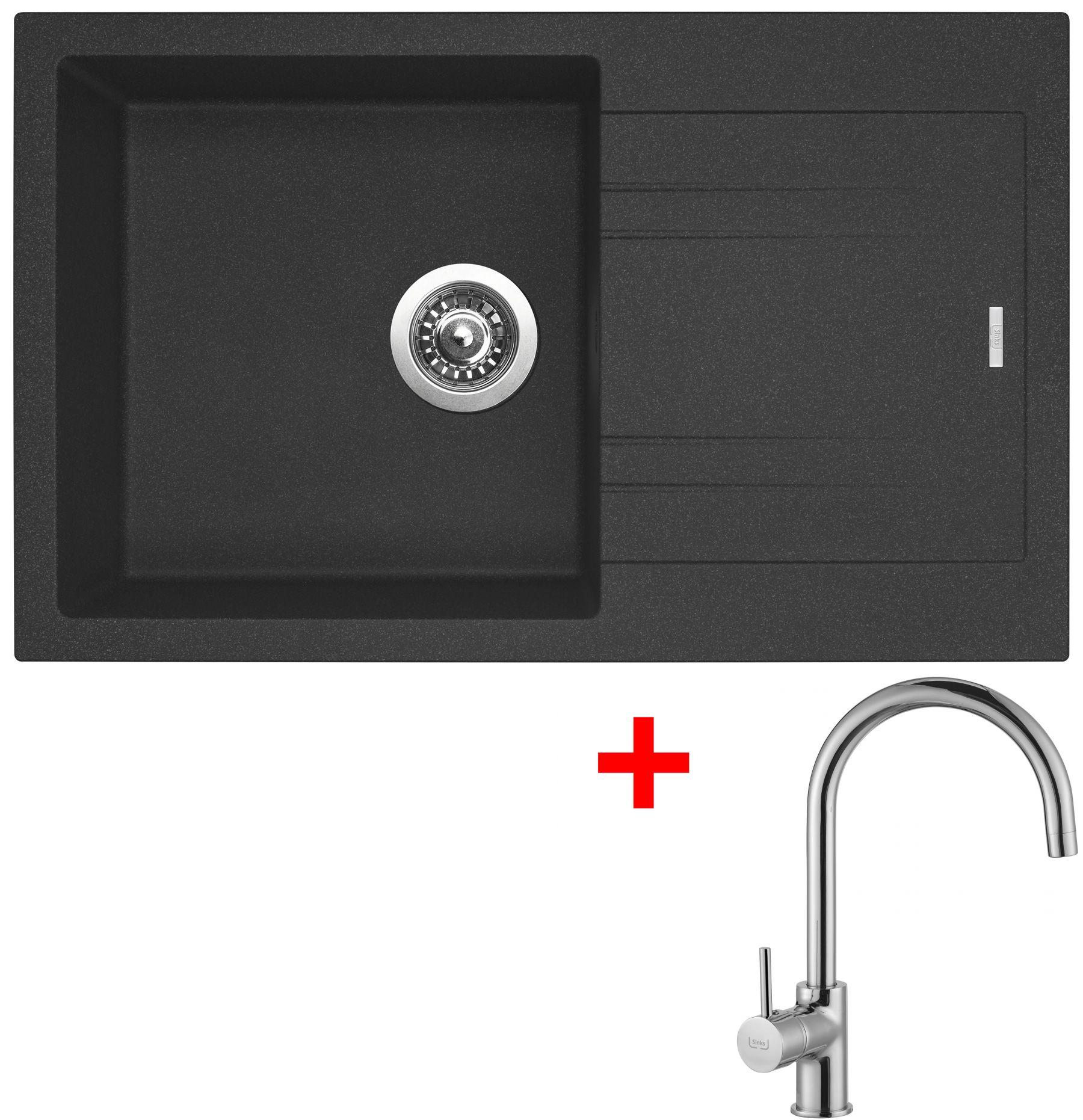 Sinks LINEA 780 N Granblack+VITALIA Chrom (záruka 5 let)