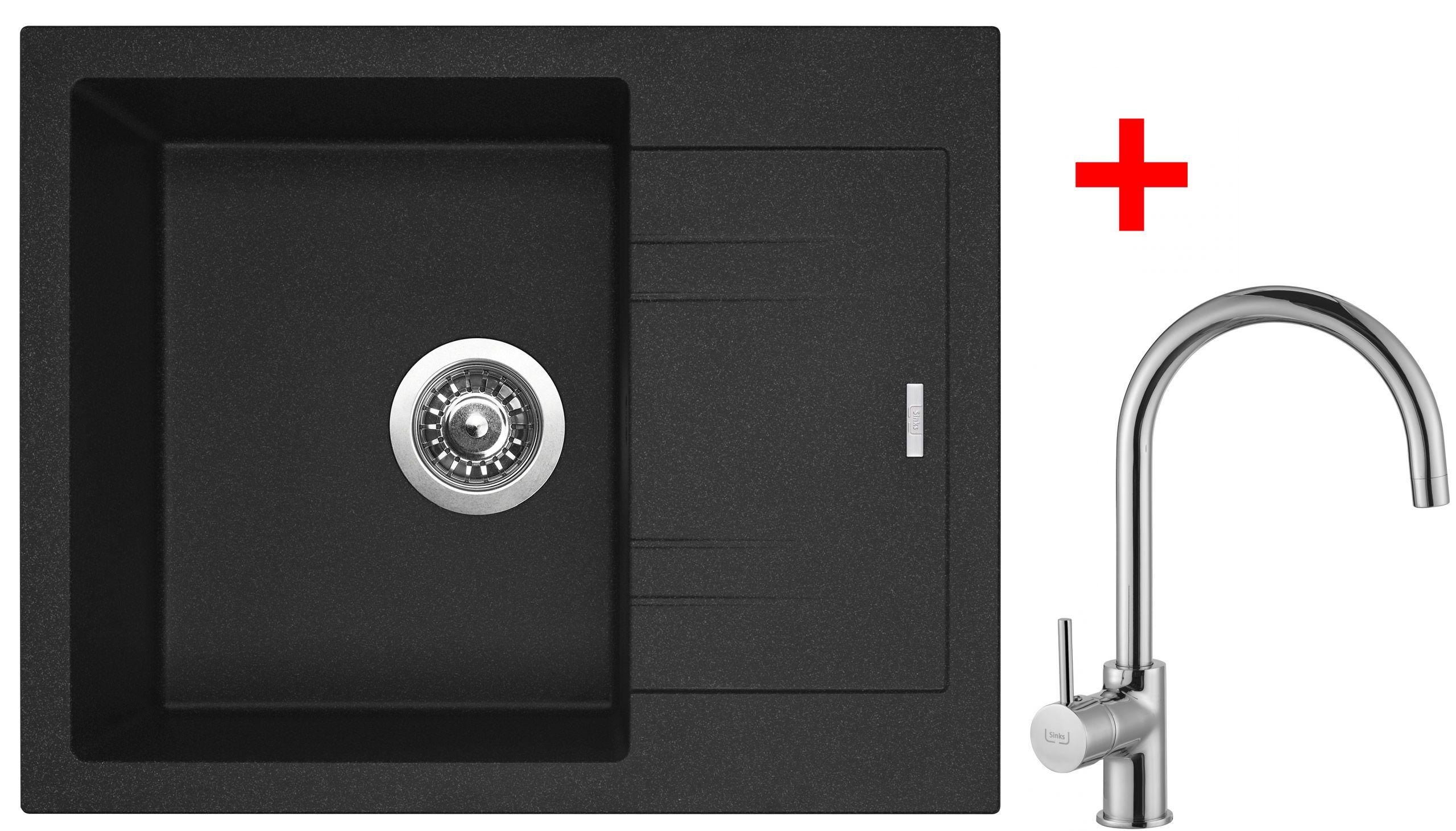 Sinks LINEA 600 N Granblack+VITALIA (záruka 5 let)