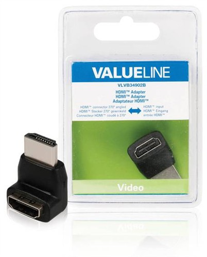 VALUELINE VLVB34902B 270°HDMI, adaptér