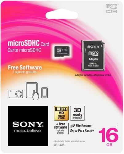 SONY micro SDHC 16GB + doprava zdarma