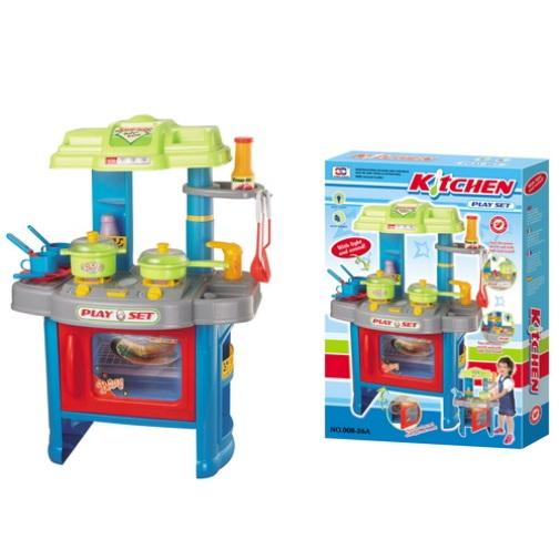 Dětská kuchyňka G21 s příslušenstvím modrá + doprava zdarma