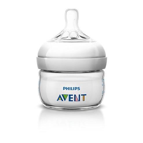 AVENT Kojenecká láhev Philips Natural 60 ml - průhledná/bílá