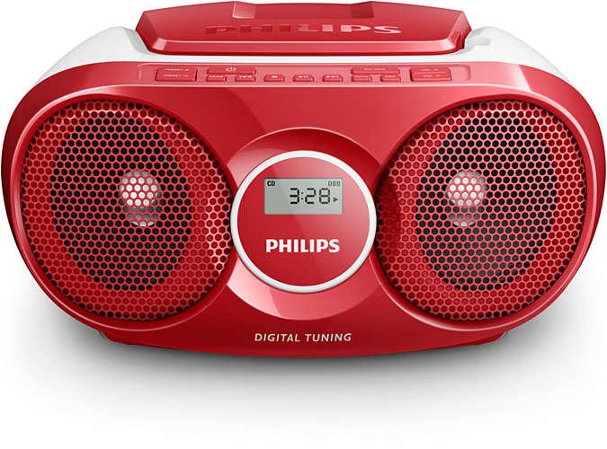 PHILIPS AZ215R/12 CD SOUNDMACHINE + doprava zdarma