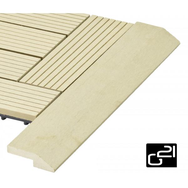 Přechodová lišta G21 pro WPC dlaždice Cumaru 38,5x75 cm rohová