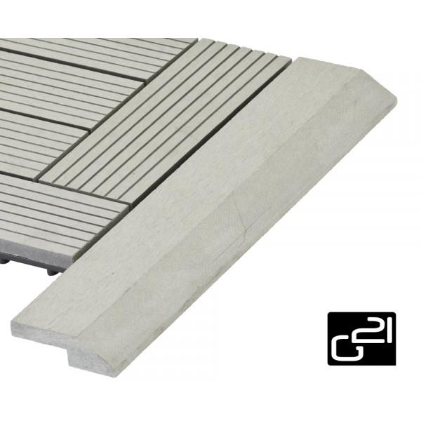 Přechodová lišta G21 pro WPC dlaždice Incana 38,5x75 cm rohová