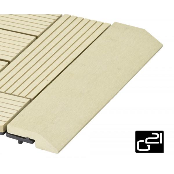 Přechodová lišta G21 pro WPC dlaždice Cumaru 30x75 cm rovná
