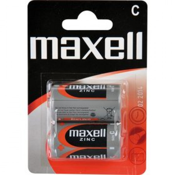 R14 2BP Zinc 2x C MAXELL