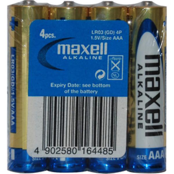 LR03 4S ALK 4x AAA (R03) SHRINK MAXELL