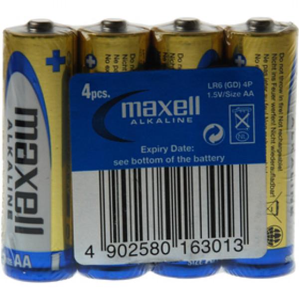 LR6 4S ALK 4x AA (R6) SHRINK MAXELL