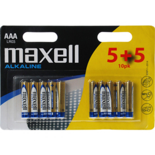 LR03 10BP AA Alk MAXELL